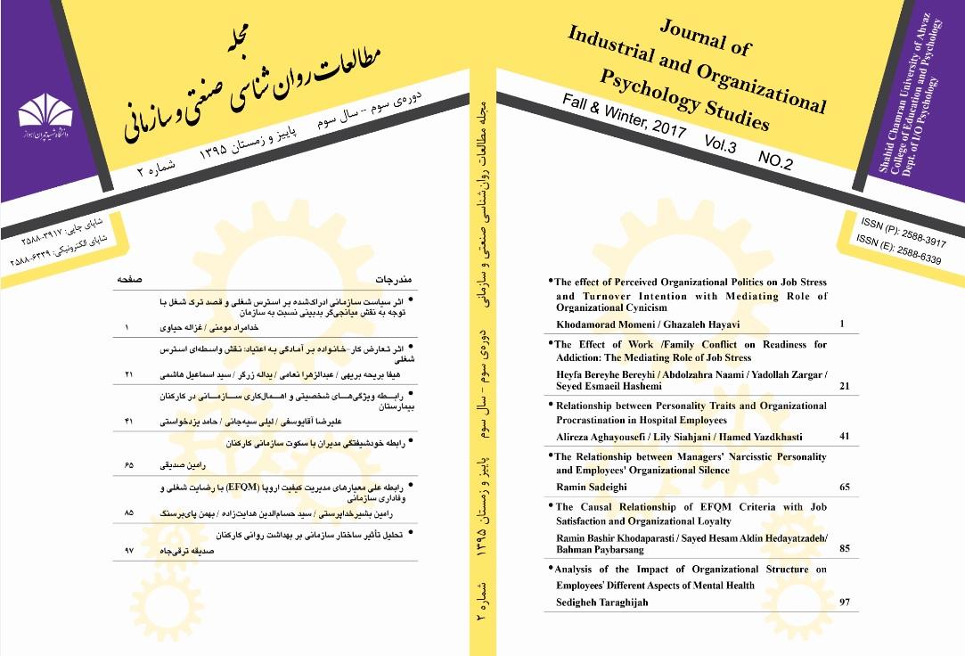 مجله مطالعات روانشناسی صنعتی و سازمانی